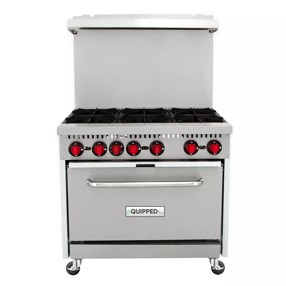 "eQuipped R6 36"" 6 Burner Gas Range w/ Standard Oven, NG"