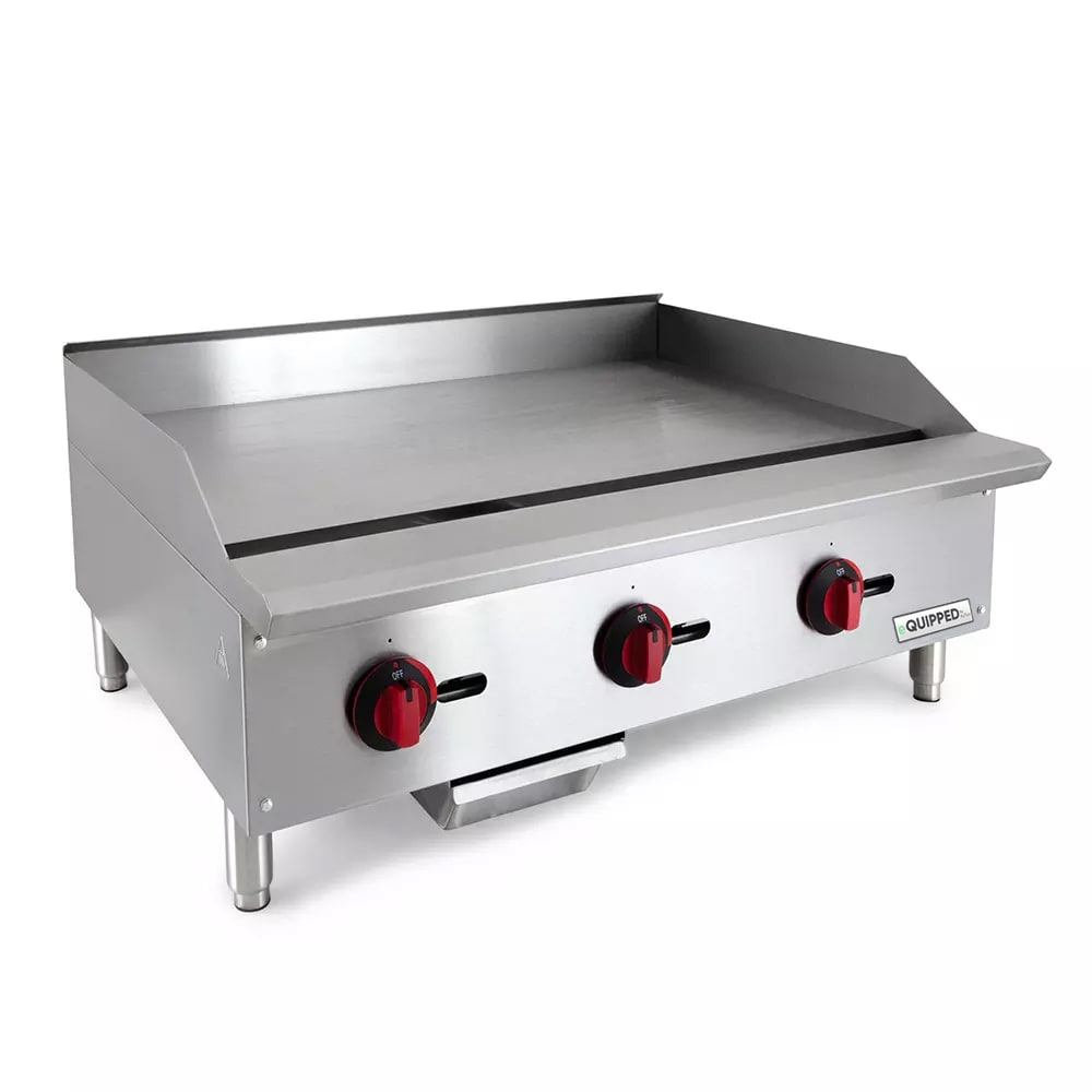 "eQuipped GR36 36"" Gas Griddle - Manual, 3/4"" Steel Plate, NG"