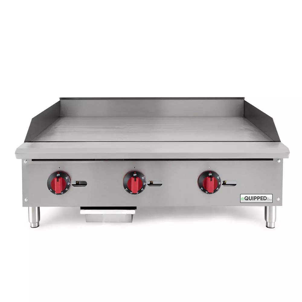 "eQuipped GR36-T 36"" Gas Griddle - Thermostatic, 3/4"" Steel Plate, NG"