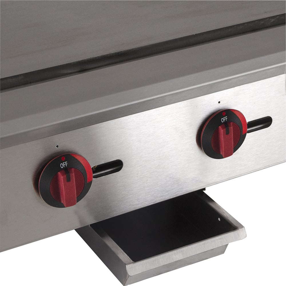 "eQuipped GR48 48"" Gas Griddle - Manual, 3/4"" Steel Plate, NG"