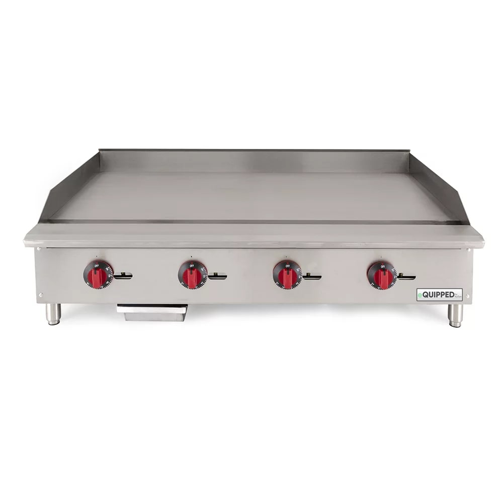 "eQuipped GR48-T 48"" Gas Griddle - Thermostatic, 3/4"" Steel Plate, NG"