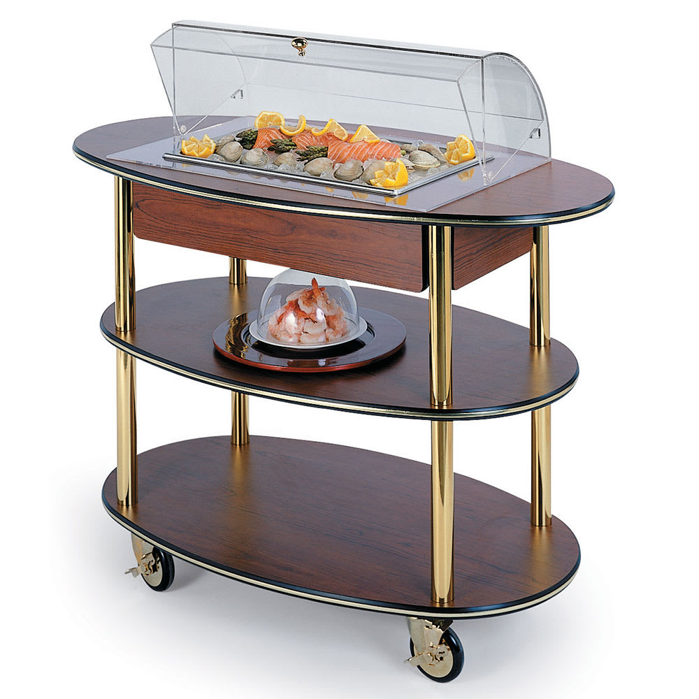 Geneva 36306 Oval Dessert Cart w/ Domed Design