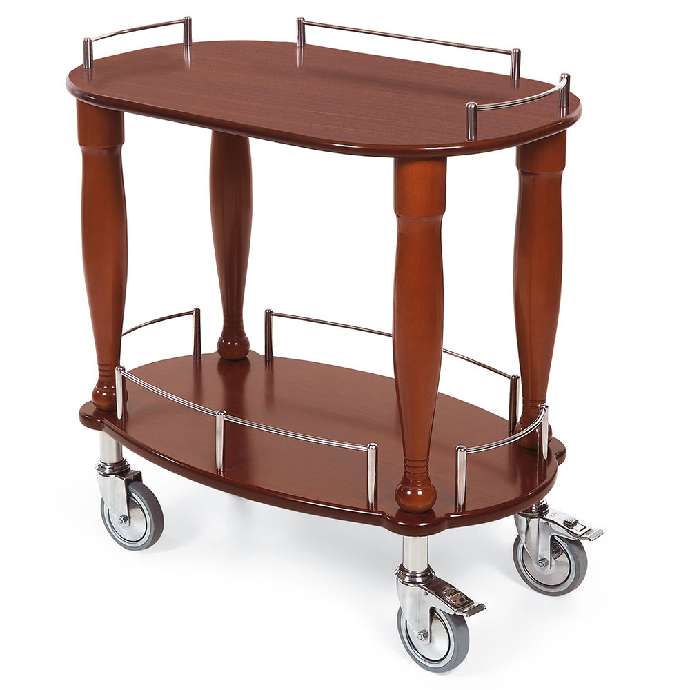 Geneva 70010 Oval Dessert Cart w/ Multi-Tiered Design