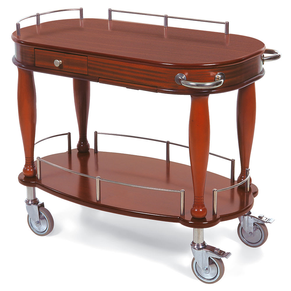 Geneva 70011 Oval Dessert Cart w/ Multi-Tiered Design
