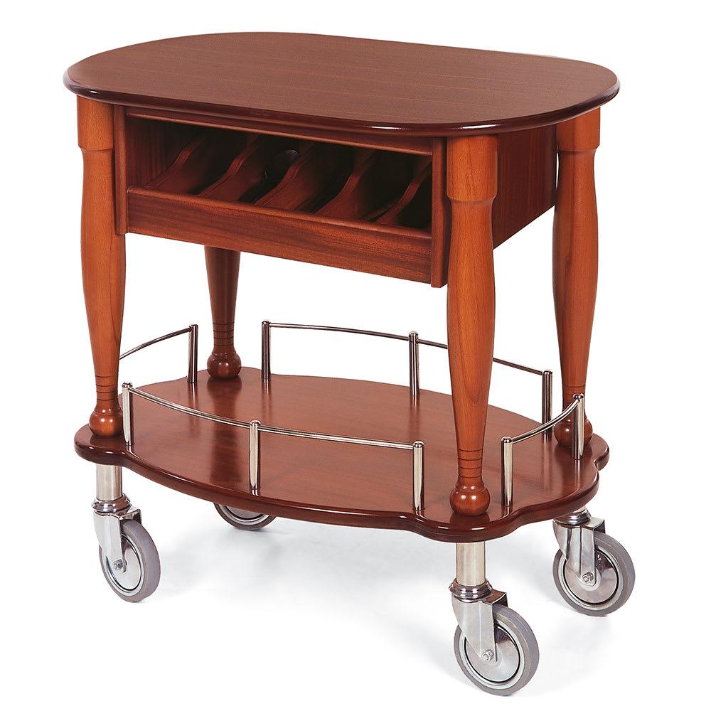 Geneva 70036 Oval Dessert Cart w/ Multi-Tiered Design