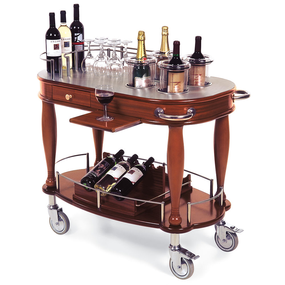 Geneva 70038 Oval Dessert Cart w/ Multi-Tiered Design