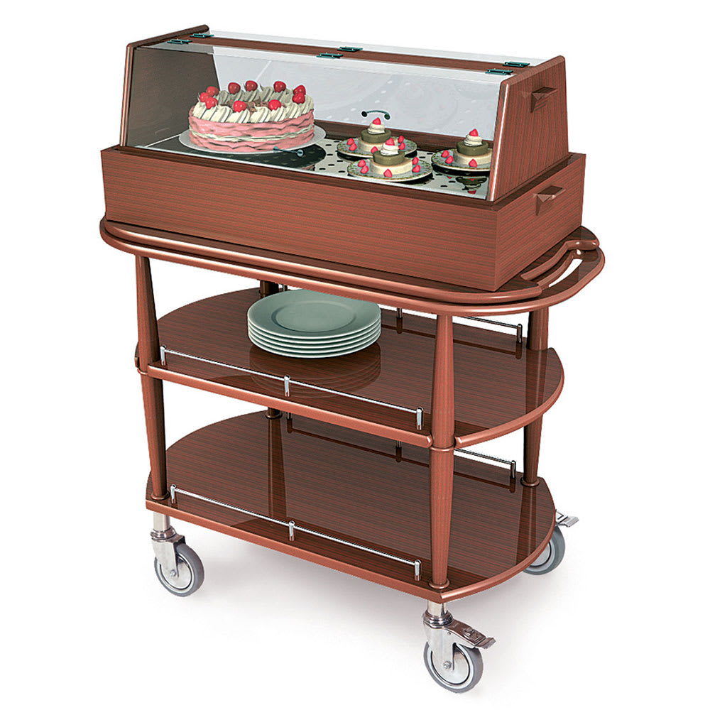 Geneva 70355 Oval Dessert Cart w/ Display Case Design