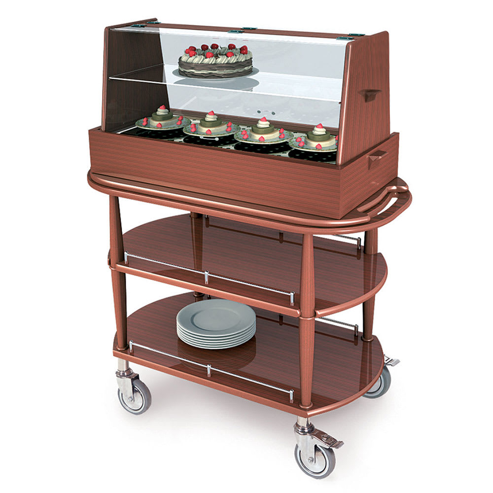 Geneva 70358 Oval Dessert Cart w/ Display Case Design