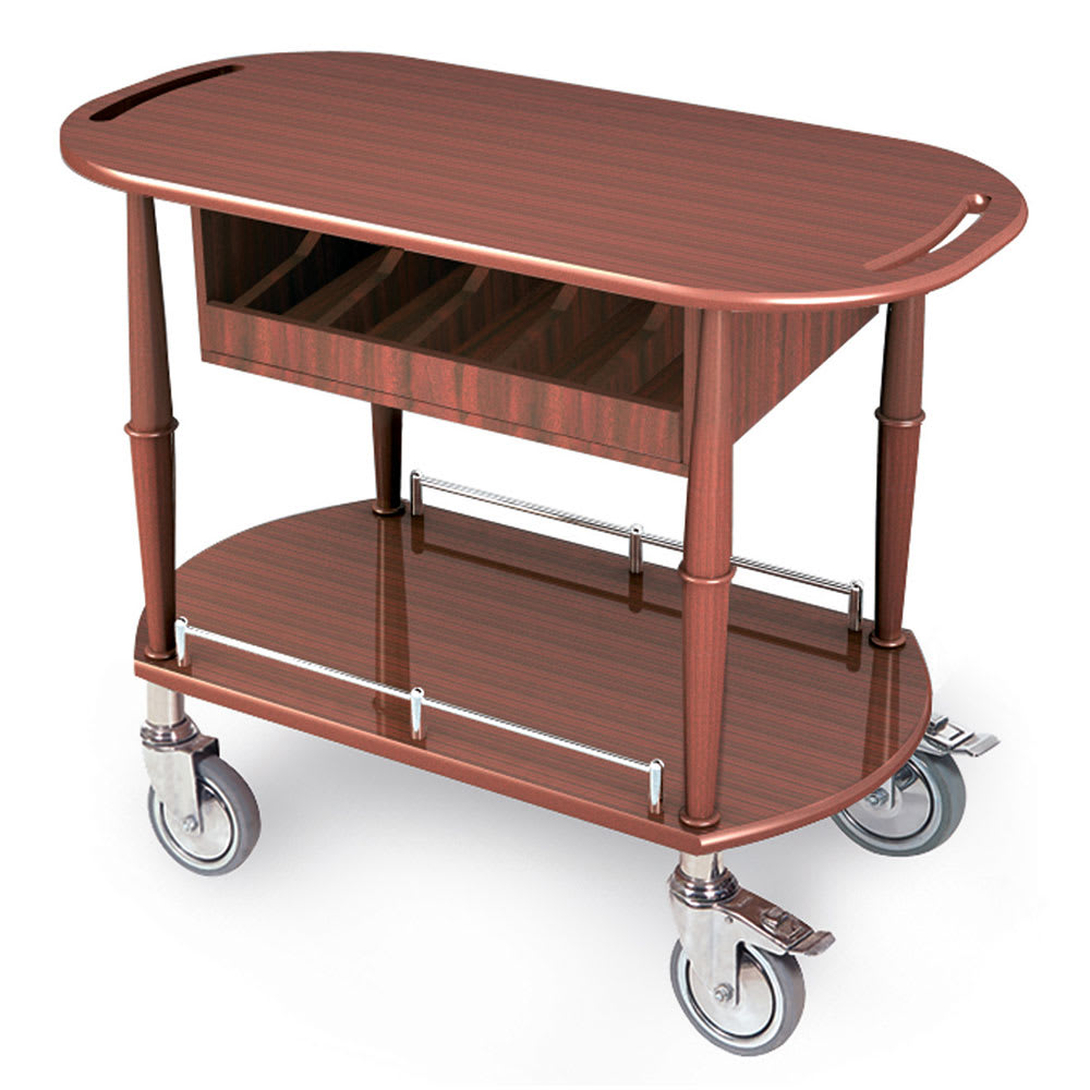 Geneva 70458 Oval Dessert Cart w/ Multi-Tiered Design