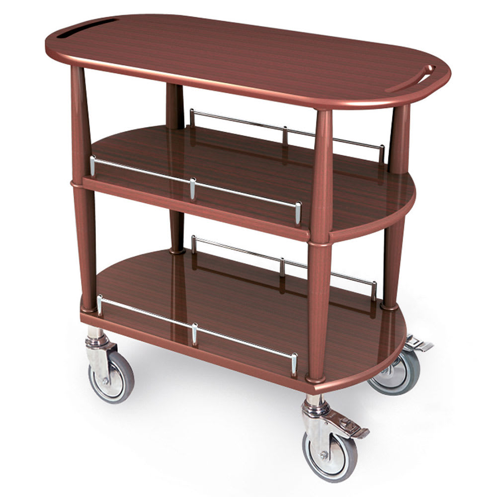 Geneva 70531 Oval Dessert Cart w/ Multi-Tiered Design