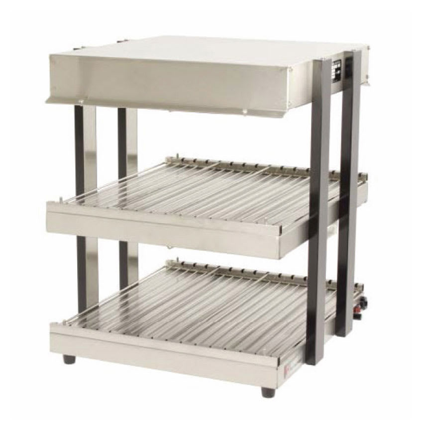 "Global Solutions GS1300-16-S 18"" Self-Service Countertop Heated Display Shelf - (2) Shelves, 120v"