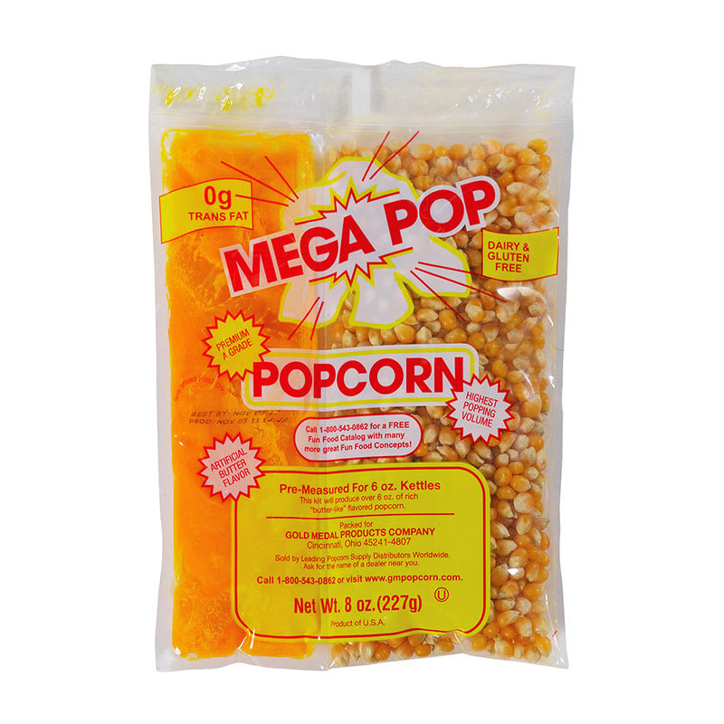 Global Solutions GS1504-P 4 oz Popcorn Kernels & Oil Pack