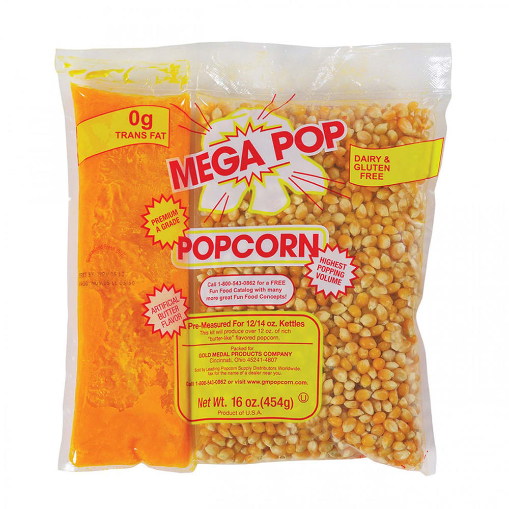 Global Solutions GS1516-P 16-oz Popcorn Kernels & Oil Pack