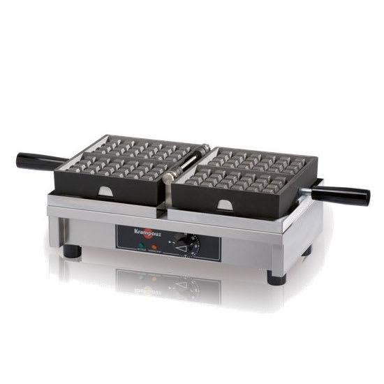 """Krampouz WECDHAAS Krampouz Belgian Waffle Iron, (2) 4 x 7"""" Waffles, 120 V"""