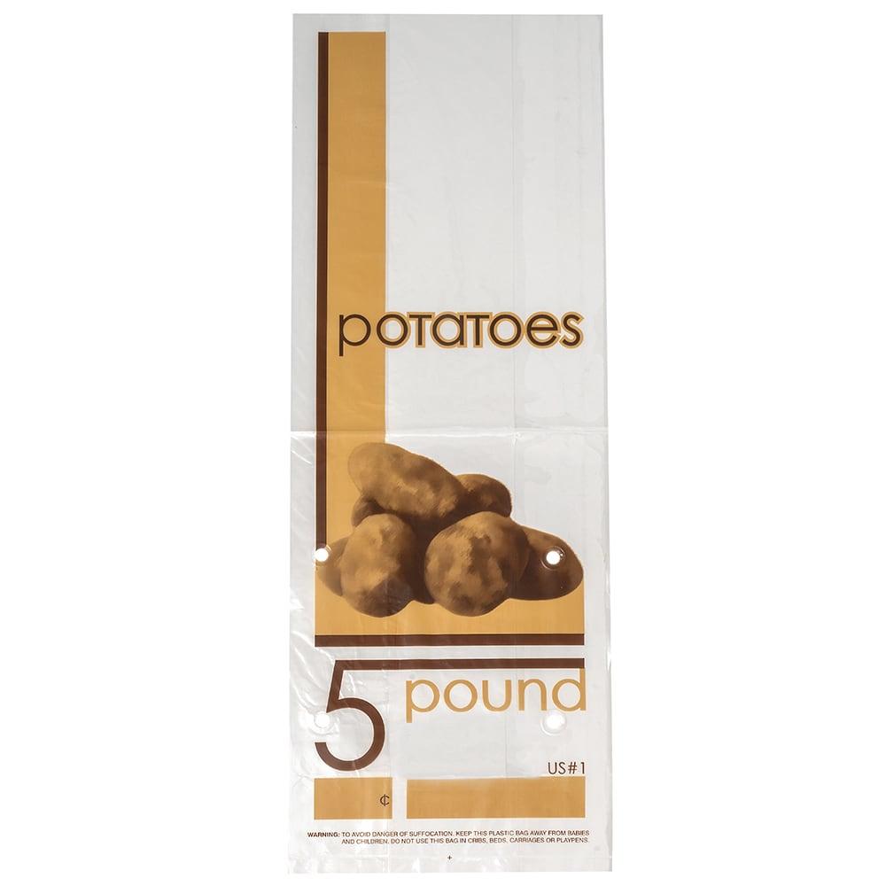 """Elkay Plastics 10G-6145POT 5 lb Vented Potato Bag - 16.5"""" x 6"""" x 3.5"""", Poly"""