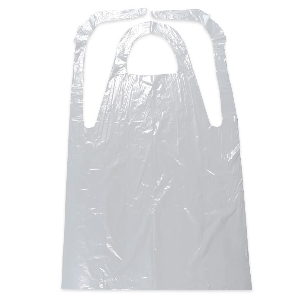 "Elkay Plastics AP8F2846 Disposable Embossed Poly Apron - 28"" x 46"", White"