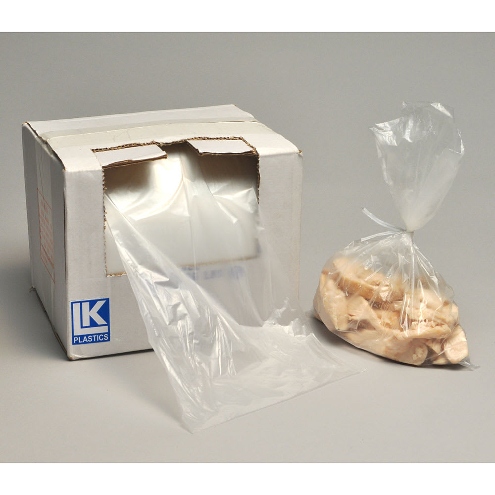 "Elkay Plastics BOR1014HD Utility Food Storage Bags w/ Twist Ties - 10"" x 14"", Poly"