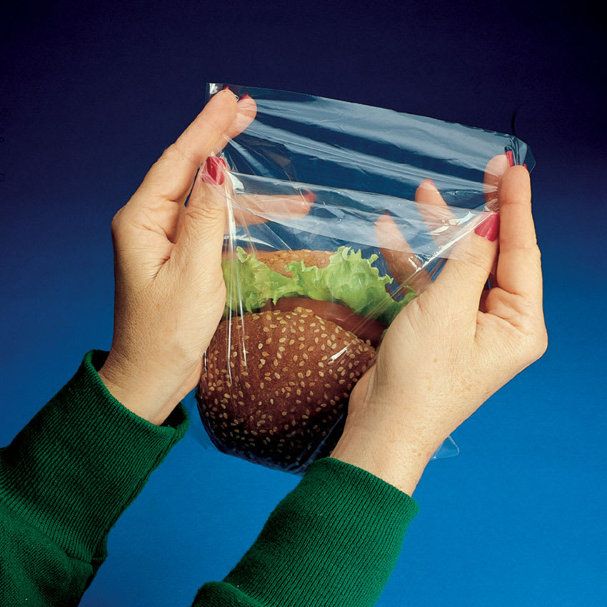 "Elkay Plastics H07 Flip-Top Sandwich Bag - 7"" x 7"", Poly"