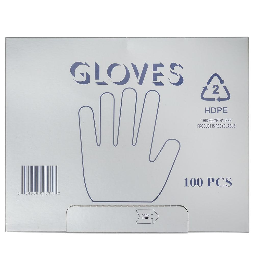 Elkay Plastics HGLV Disposable Poly Gloves, Clear