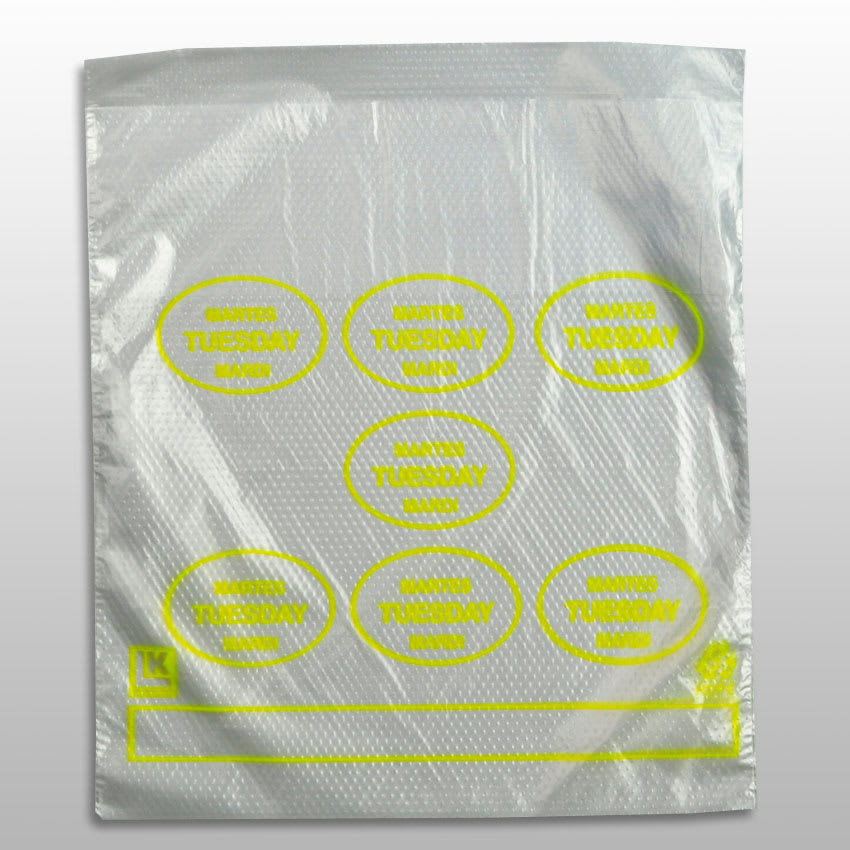 """Elkay Plastics PCTUE6507 Printed Portion-Control Food Storage Bags w/ Saddle Pack Dispenser - 6.5"""" x 7"""", Poly"""