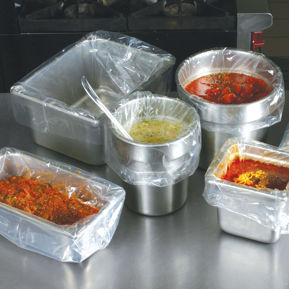 """Elkay Plastics PL3418 Pan Liners for Full-Size Deep Food Pans - 34"""" x 18"""", Poly"""