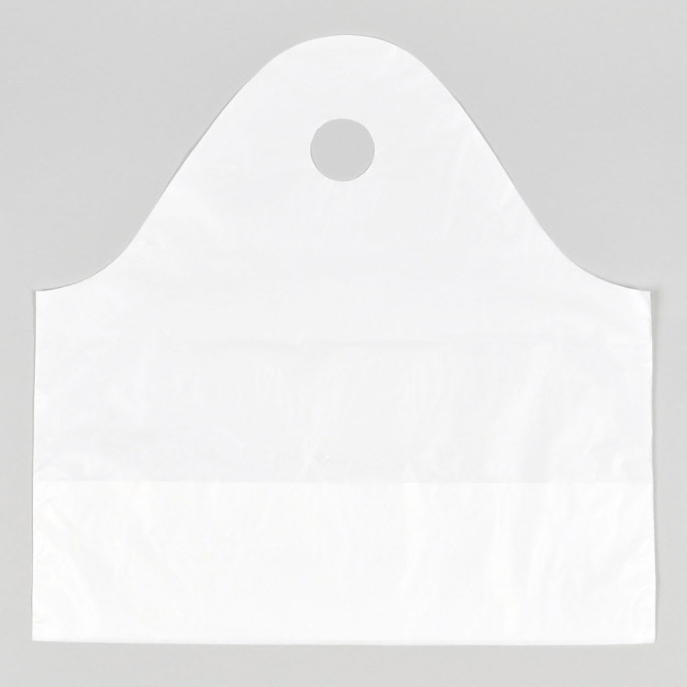 "Elkay Plastics TO211810 Poly Take-Out Bag w/ Handles - 21"" x 18"" x 10"", White"