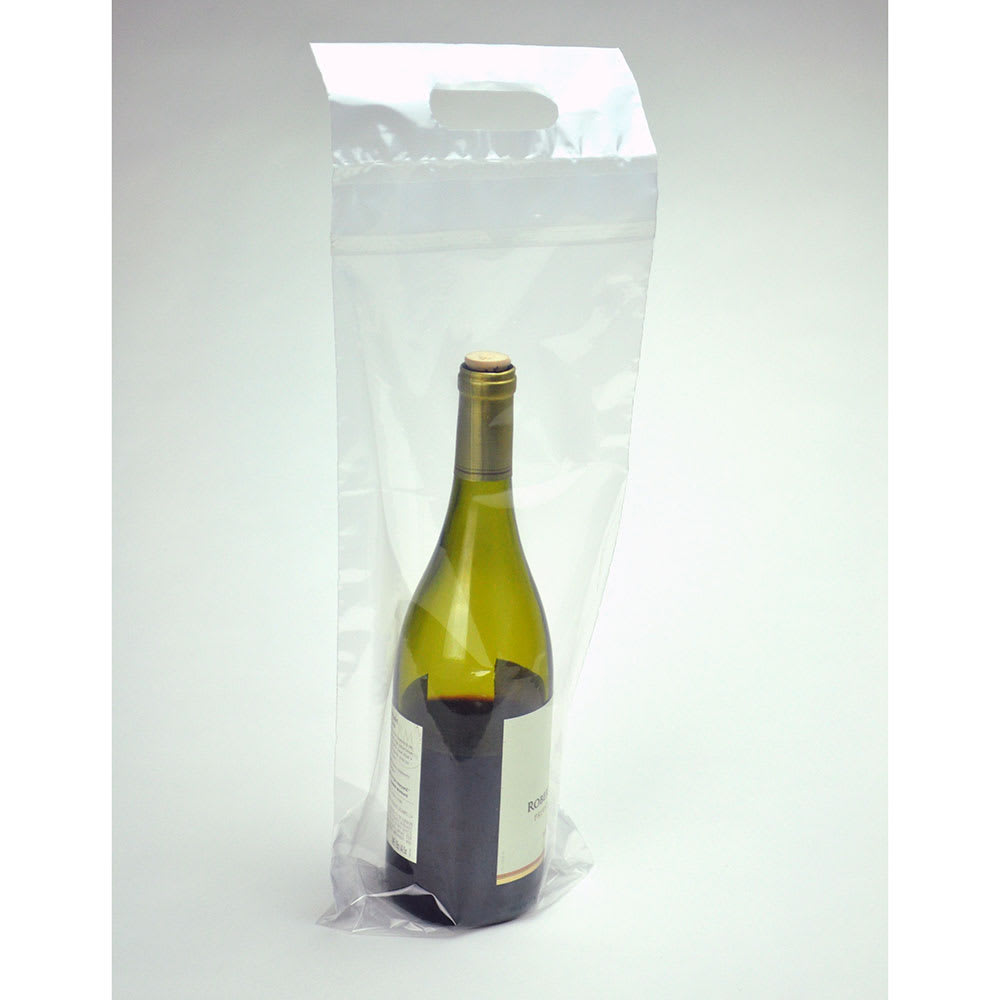 "Elkay Plastics WBPL719+3 Wine To-Go Bag - 19"" x 7"", Poly/Metallocene"