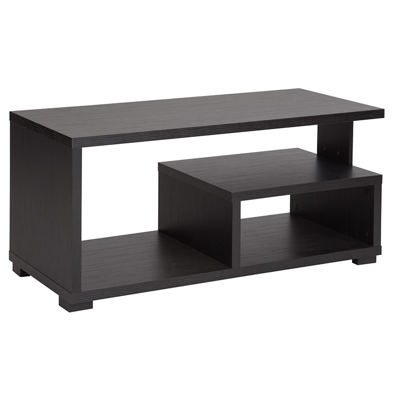 Flash Furniture Ev Ct 3890 00 Gg Morristown Coffee Table W Open Storage 35 5 X 15 D 16 H Espresso Laminate