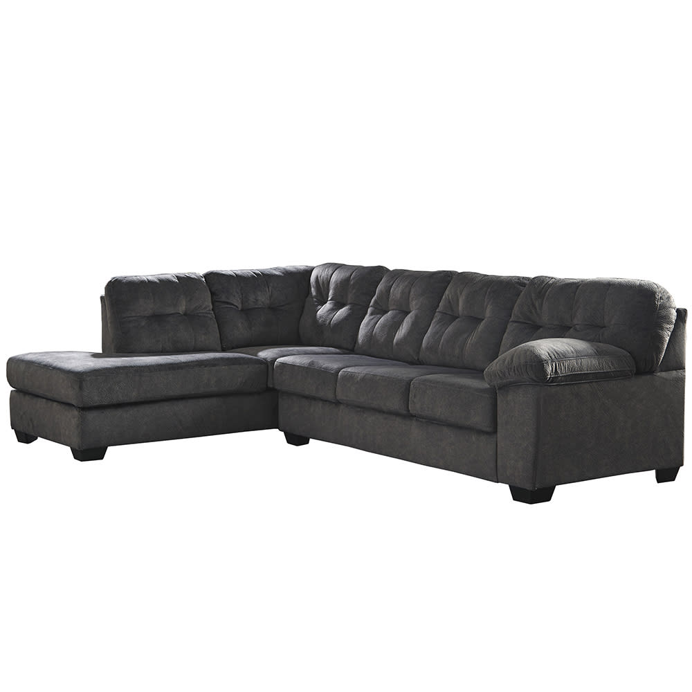 Flash Furniture FSD-1339SEC-2RAFS-GRT-GG 2 Piece L-Shaped Sectional Sofa -  Microfiber, Granite