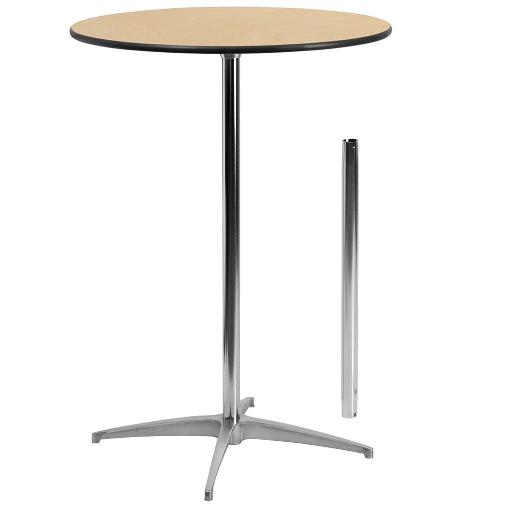 "Flash Furniture XA-30-COTA-GG 30"" Round Pub-Height Cocktail Table w/ Birchwood Top"