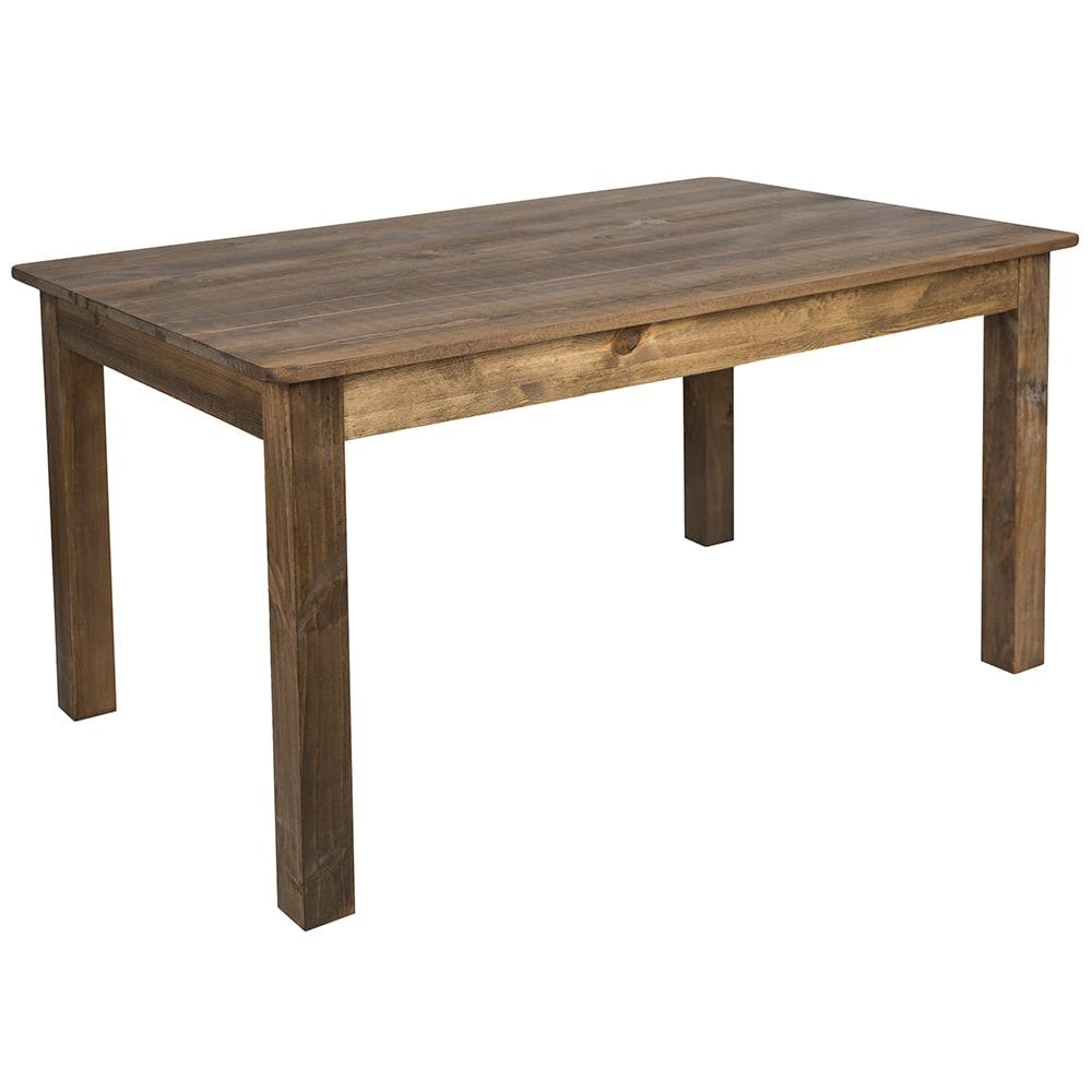 Flash Furniture XAFXGG Rectangular Farm Dining Table X - Rectangular farm dining table