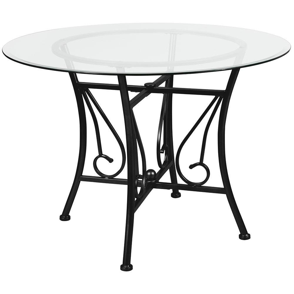 Flash Furniture XUTBGGG Round Princeton Dining Table W - 42 round black dining table