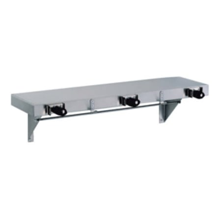 "Gamco US-2 36"" Utility Shelf w/ Mop, Broom Holder & Rag Hooks"
