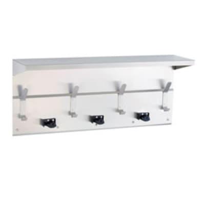 "Gamco US-7 54"" Utility Shelf w/ Mop, Broom Holder & Rag Hooks"