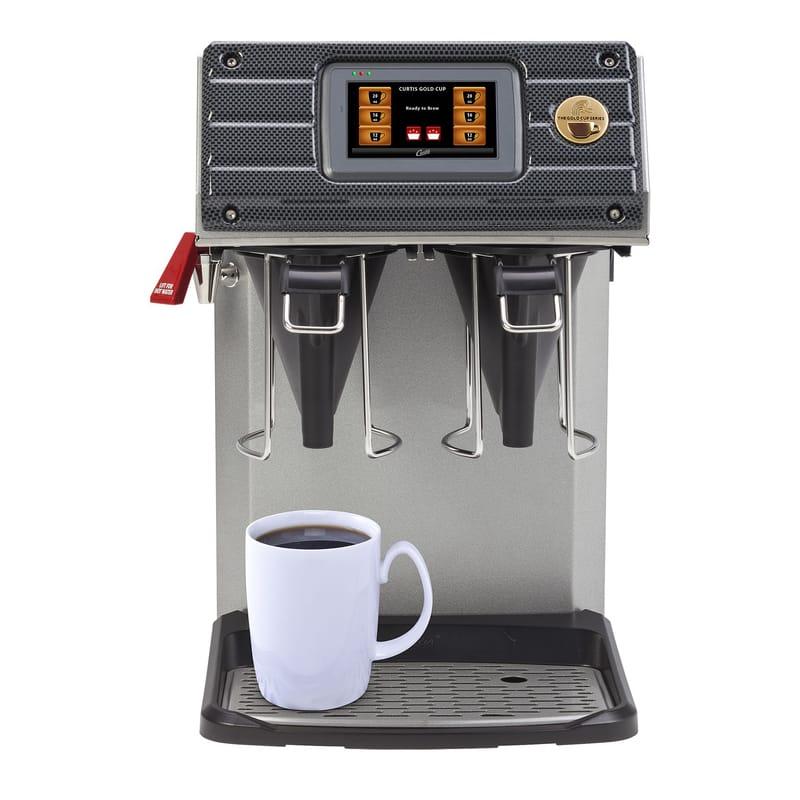 Curtis Cgc 17 Gal Twin Brew Single Cup Coffee Brewer W Digital Controls 110v