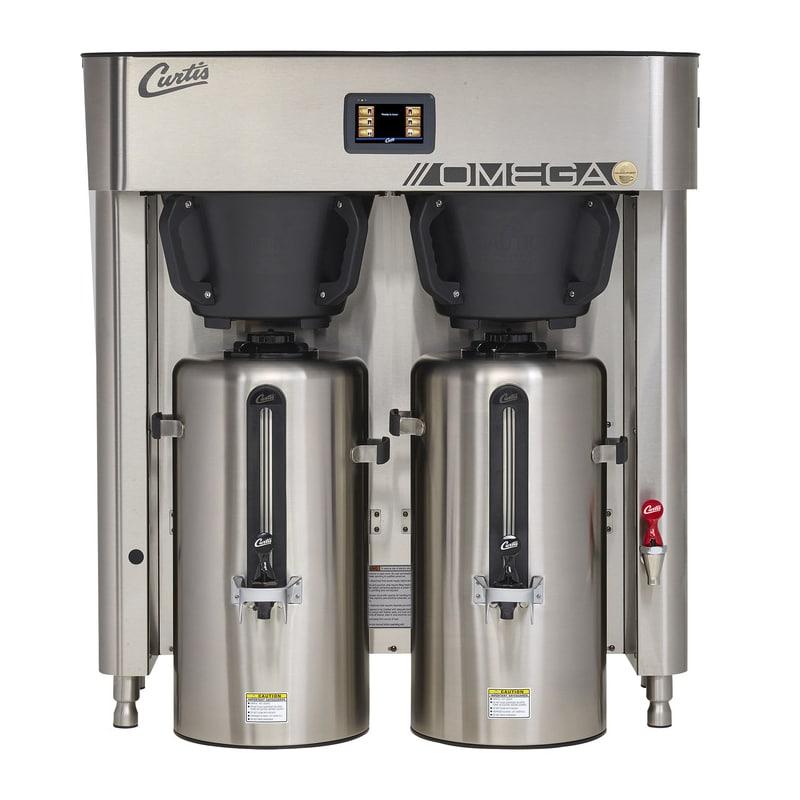 1ba05fad6 Curtis OMGT 3 gal Twin Coffee Urn Brewer w/ Dispenser, 208v/3ph