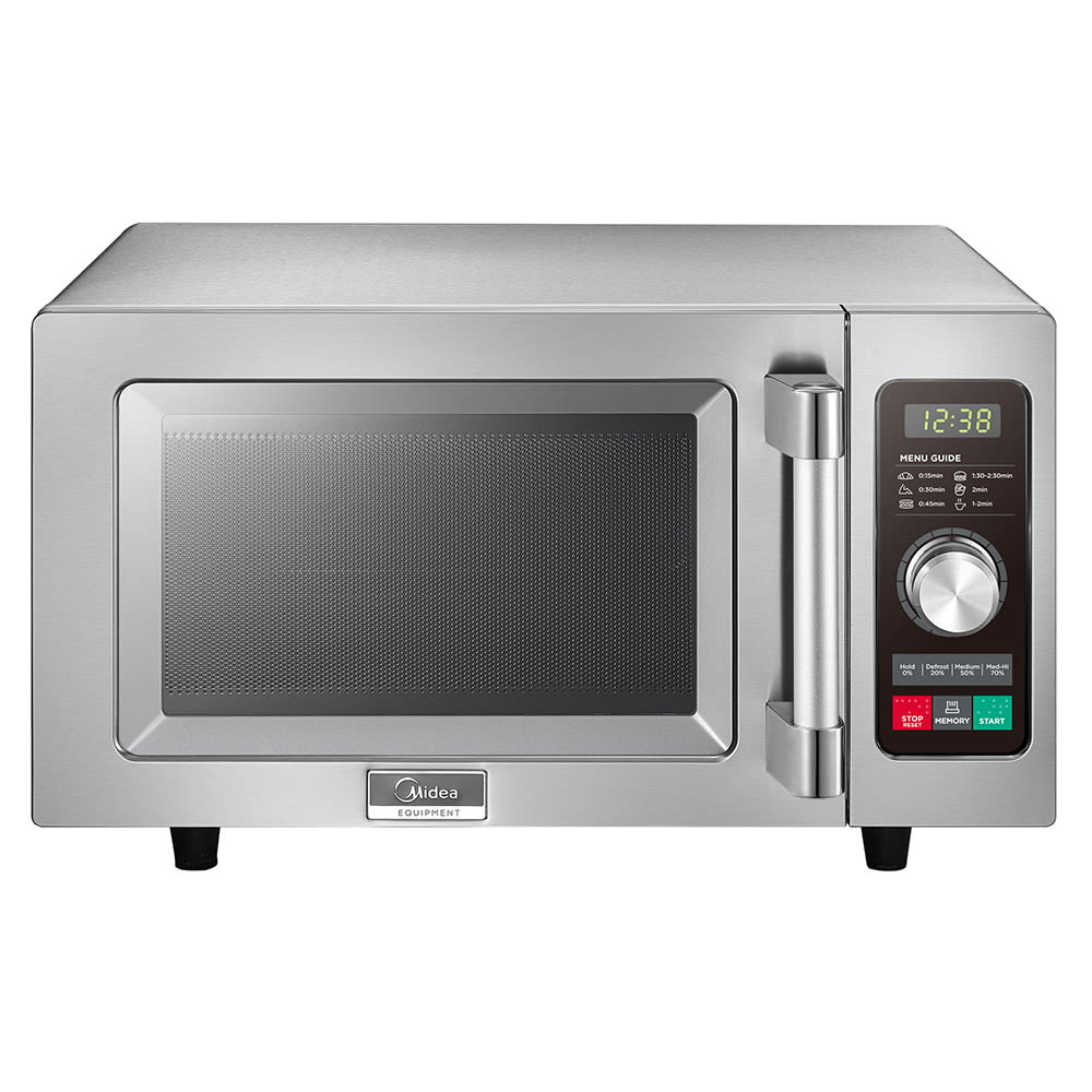 Midea 1025F2A 1000w Commercial Microwave with Dial Control, 120v