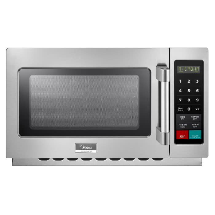 Midea 1434N1A 1400w Commercial Microwave with Touch Pad, 208v/1ph