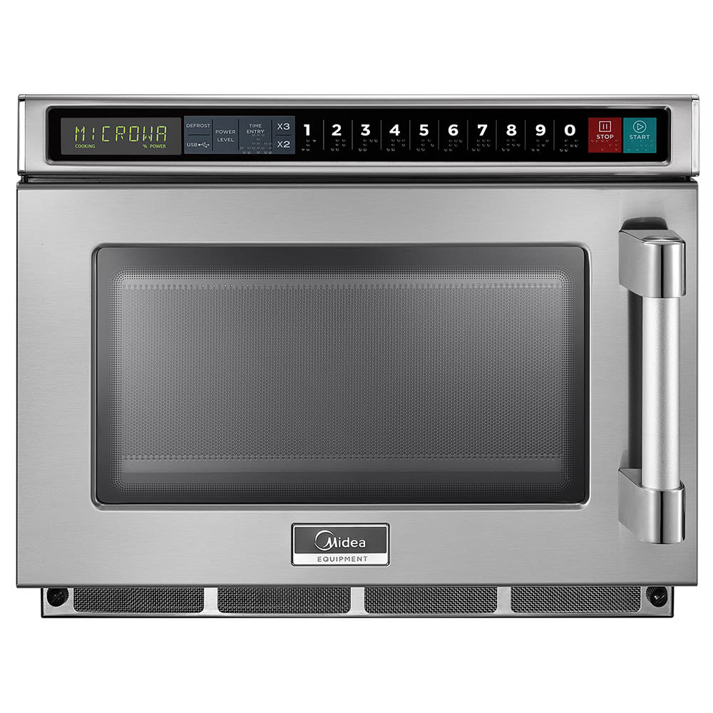Midea 1817G1A 1800w Commercial Microwave with Touch Pad, 208v/1ph
